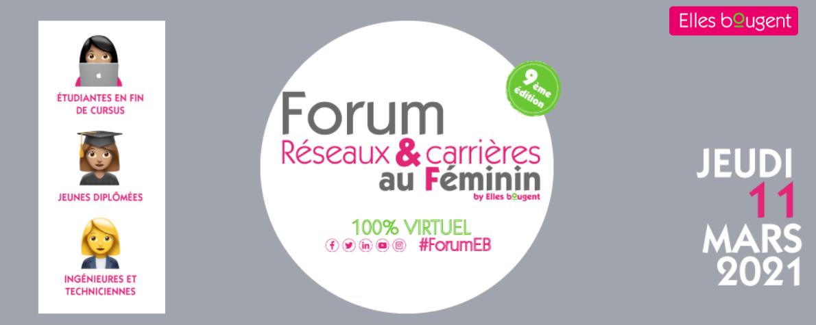 Forum Réseaux & carrières au féminin 2021